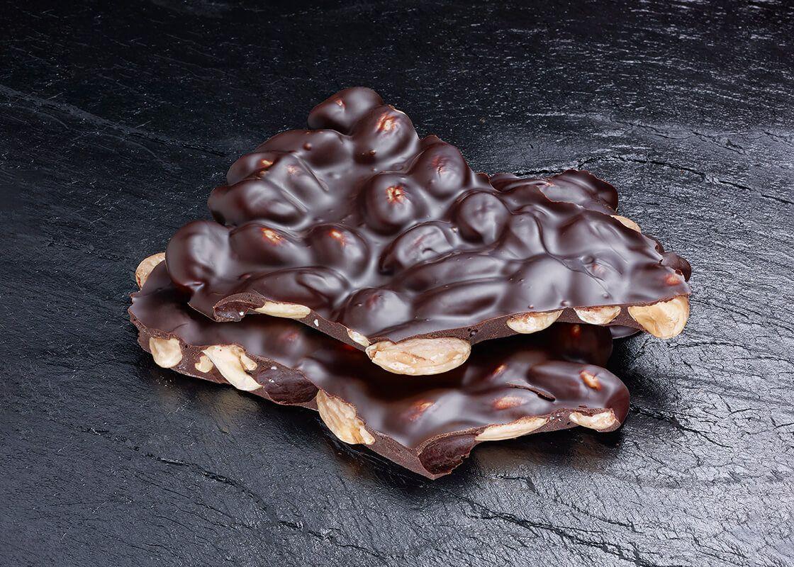 Geröstete Mandeln in Dunkler Schokolade